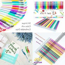 Color Gel Pens For Kid Adult Coloring Books 24 Colors Art Ma