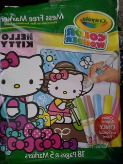CRAYOLA COLOR WONDER~FEATURING HELLO KITTY~INCLUDES 18PGS&5