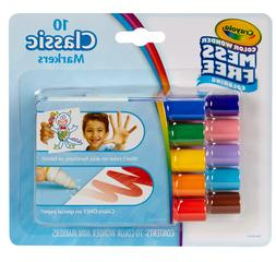 Color Wonder Mess Free Mini Markers, Classic Colors, 10 Coun