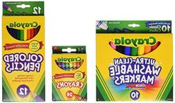 Crayola Core Pack for Back to School - Grades 3-5, Stocking