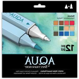 Crafter's Companion Spectrum Noir Aqua Markers 12/Pkg-Nature