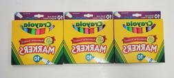 Crayola Broad Line Markers-Assorted Colors 10/Pkg 156993 Dar