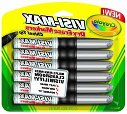 Crayola Dry Erase Markers 12 Count Visimax BL Black Blackboa