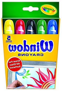 Crayola Washable Window Crayons, Assorted 5 ea