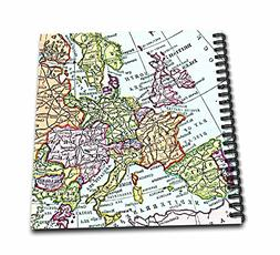 3dRose db_112938_2 Vintage European Map of Western Europe-Br