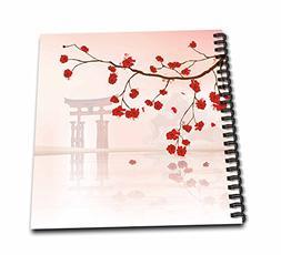 3dRose db_116168_2 Beautiful Japanese Sakura Red Cherry Blos