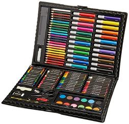 Darice 120-Piece Deluxe Art Set – Art Supplies for Drawing