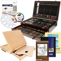 Deluxe Art Set For Adults Exclusive Beginner Drawing Kit Adj