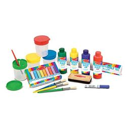 Melissa & Doug Deluxe Standing Easel & Companion Supply Set