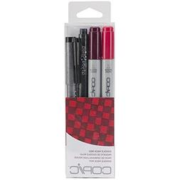 Copic Marker DPRED Doodle Pack, Red