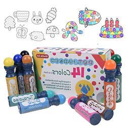 Shuttle Art Dot Markers, 14 Colors Highly Washable Bingo Dau