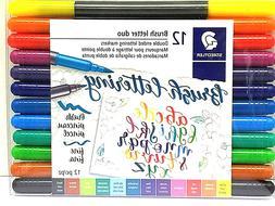 Staedtler Double-ended Brush Marker Brush Letter Duo, Creati