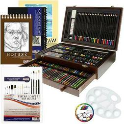 162-Piece Art Drawing Set Artist Sketch Pencil Pastel Paper