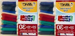 BIC Dry Erase Markers 60 Count Bulk Lot Set Fine Chisel Tip