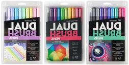 Tombow Dual Tip Brush Pen Art Markers Galaxy, Brights & Past