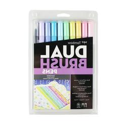Tombow Dual Brush Pen Art Markers Assorted Sets 10 Pack Blen