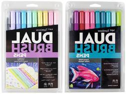 Tombow Dual Brush Pen Art Markers Brush & Fine Tip Sets - Tr
