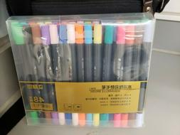 Dual Brush Pen Art Markers with Fineliner Tip 48 color set ,