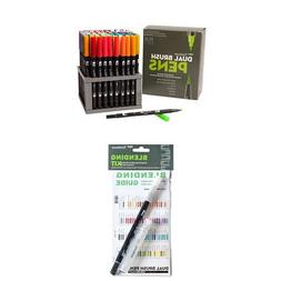Tombow Dual Brush Pen Art Markers,96 Color Set with Desk Sta