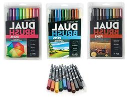 Tombow Dual Brush Pen Art Markers Set: Set includes 1 of eac