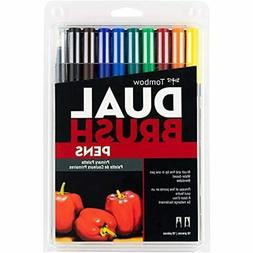 Tombow 56167 Dual Brush Pen Art Markers, Primary, 10-Pack. B