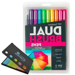 Tombow Dual Brush Pens Bright Palette Art Markers Set of 10
