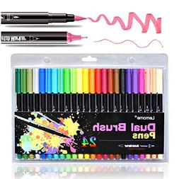 Dual Brush Pens Fine Markers - Fine Tip Drawing Markers for
