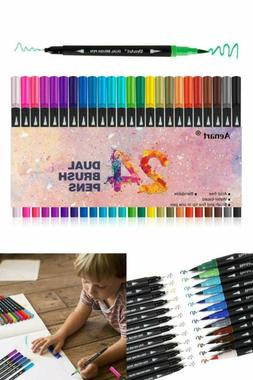 Dual Tip Art Marker Pens Fine Point Bullet Journal & Colored