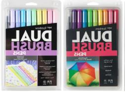Tombow Dual Tip Brush Pen Art Markers Brights & Pastel Palet
