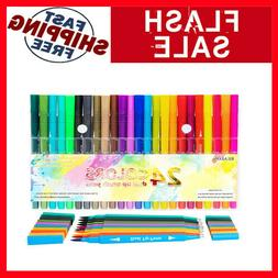 Dual Tip Brush Pen Art Markers, Calligraphy Brush Pens for L
