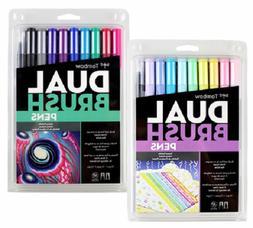 Tombow Dual Tip Brush Pen Art Markers Galaxy & Pastel Palett