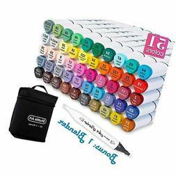 Shuttle Art 50 Colors Dual Tip Art Markers,Permanent Marker