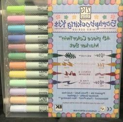 EK Success Twin-Tip Scrapbooking 48 Marker Set Kuretake Co Z