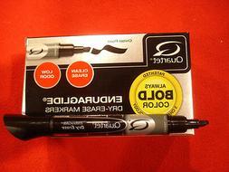 ** EnduraGlide Dry Erase Markers, Black, Dozen