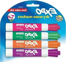 Expo Low Odor Dry Erase Markers, Chisel Tip, Assorted Colors