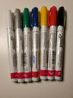 Sharpie Extra Fine Point Oil Paint Art Industrial Marker 6 C