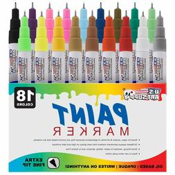 Art Supply 18 Color Set Extra Fine Point Tip Oil Based Paint