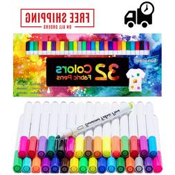 Fabric Markers Pens Permanent Paint Clothing Textile Dye T-S