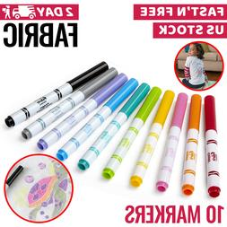 Fabric Markers Permanent Pens Paint Clothing Textile Dye T-S