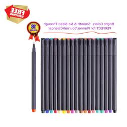 Fine Point Markers Tip Line Pen Set Drawing Art Office Color