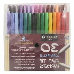 Sargent Art 22-1582 30-Count Fine Tip Washable Marker Packs