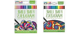 Crayola Fineline Markers 24 Vibrant Colors with Fine Tips Cl