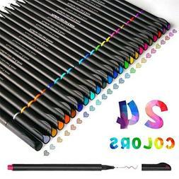 Fineliner Color Pen Set 0.4mm Fine Line Drawing Pen Porous F
