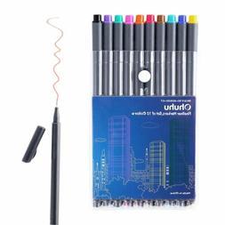 Ohuhu 10 Colored Fineliner Color Pen Set/ Fineliner Markers