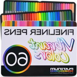 Fineliner Color Pen Set  Colorful Ultra Fine 0.4mm Felt Tips