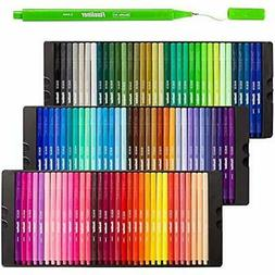 Shuttle Art Fineliner Pens, 100 Colors 0.4mm Fineliner Color
