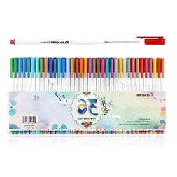 Sunacme 36 Color Fineliner Pens Set, 0.38 mm Ultra Fine Poin