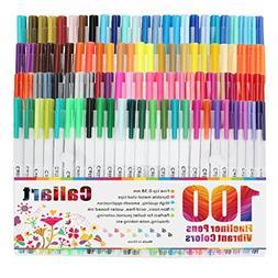 Caliart Fineliner Color Pens Set 100 Colors Fine line Drawin