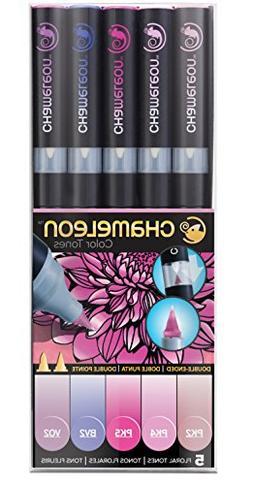 Chameleon Art Products CHAM0512 Color Tones, Pack of 5, Flor