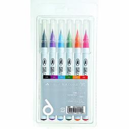 Kuretake Fude Real Brush Pen, Clean Color, 6 Set